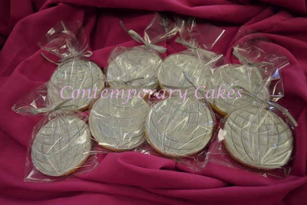 Disco Ball Cookies made by Contemporary Cakes