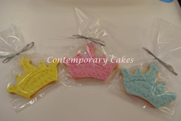 Tiara Princess Cookies made by Contemporary Cakes