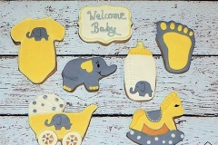 Baby and Baby shower cookies Contemporary Cakes and Classes