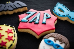 Super hero cookies Contemporary Cakes and Classes