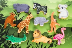 Jungle animals cookies Contemporary Cakes and Classes