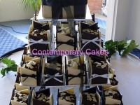 Miniature chocolate wedding cakes Contemporary Cake
