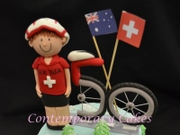 Cyclist Cake Brisbane Contemporary Cakes and classes Brisbane