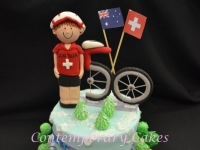 Cyclist Cake Contemporary Cakes and classes Brisbane