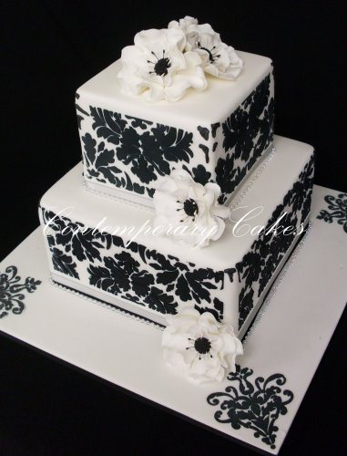 wedding cake 2 gallery contemporary cakes and classes. Black Bedroom Furniture Sets. Home Design Ideas