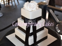 Wedding cake by Contemporary Cakes