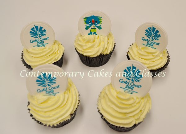 Commonwealth Games Corporate Cupcakes Brisbane Contemporary Cakes and Classes Logan Gold Coast