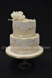 Lace wedding cake class Contemporary Cakes and Classes
