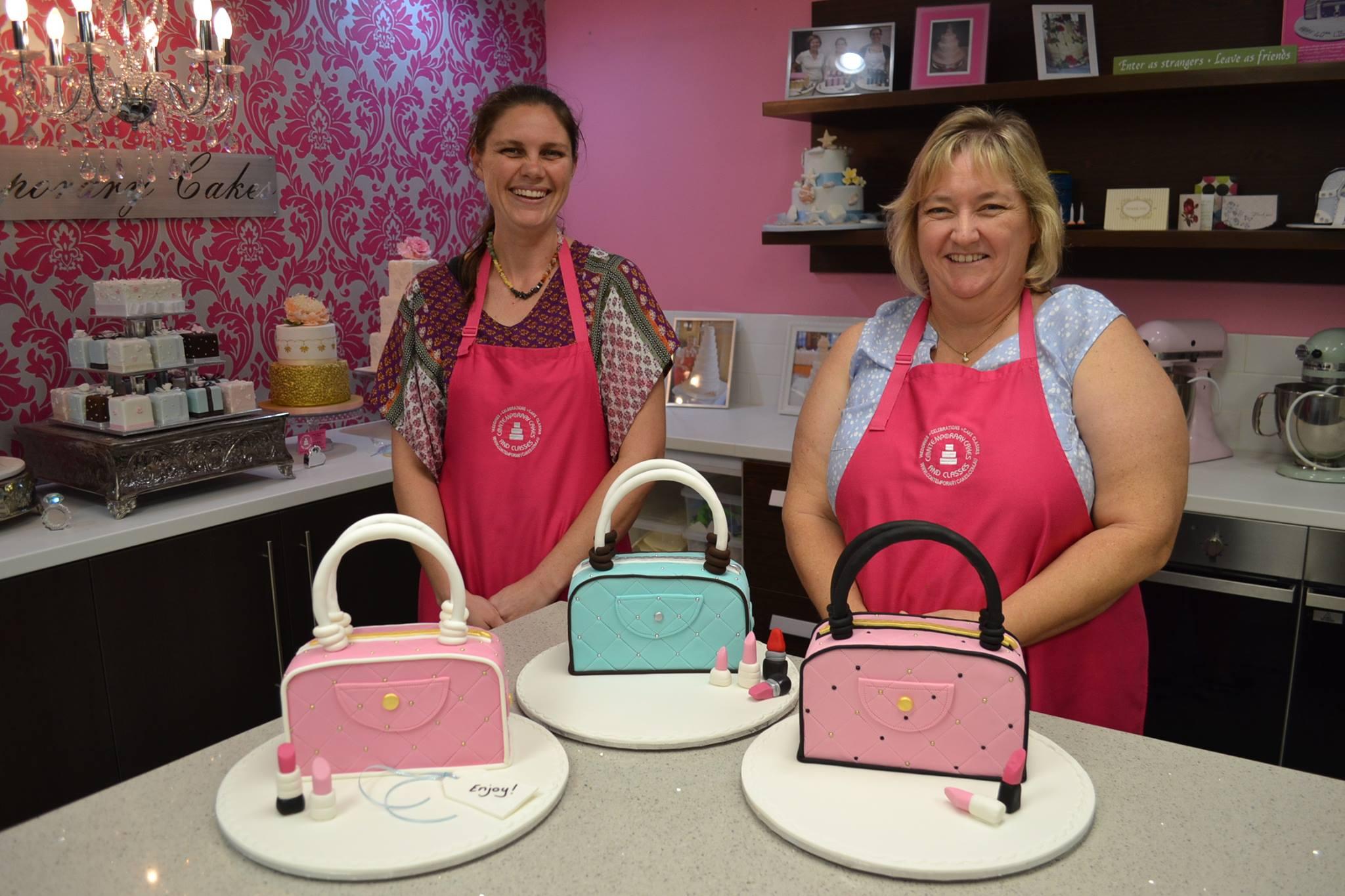 Handbag cake class Contemporary Cakes and Classes