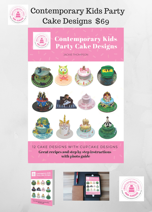 Contemporary Kids Party Cake Designs 2 Jackie Thompson