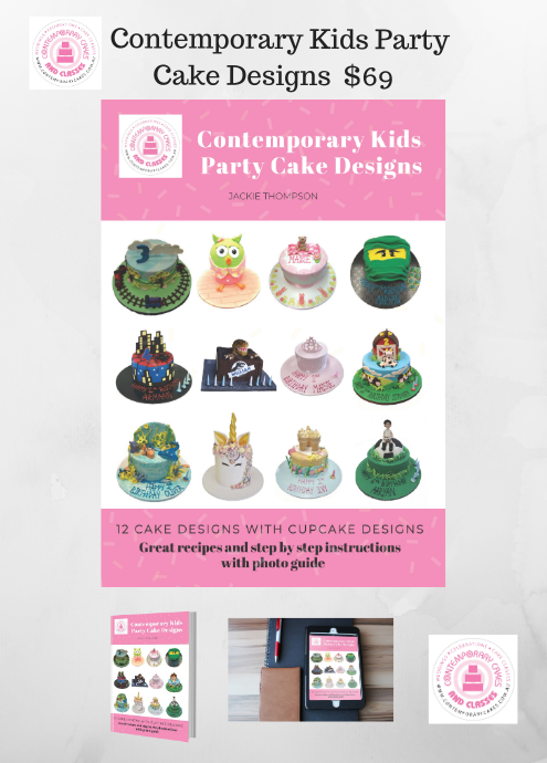 Contemporary Kids Party Cake Designs Book By Jackie Thompson