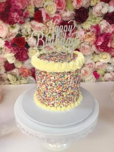 Sprinkle birthday cake Contemporary Cakes and Classes Logan Brisbane