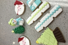 Christmas themed cookies Contemporary Cakes and Classes