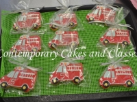 Firetrucks Cookies made by Contemporary Cakes