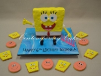 Sponge Bob Square pants Cookies by Contemporary Cakes and Classes