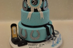 Horse themed 21st birthday cake at Contemporary Cakes and Classes Brisbane