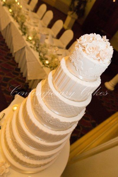 9 tier wedding cake