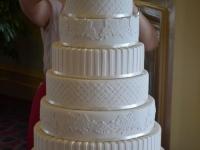 Wedding cake assembly