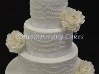 Peony rose Wedding cake Contemporary Cakes