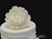 Peony rose weddding cake Wedding cake Contemporary Cakes