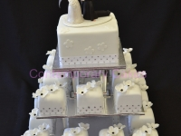 Miniature wedding cakes Contemporary Cakes