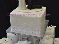 Miniature chocolate wedding cakes Contemporary Cakes