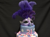 Masquerade Cake and cupcakes Brisbane Contemporary Cakes and classes