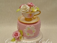 Tea cup and saucer birthday cake