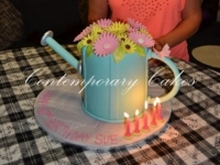 Watering can birthday cake