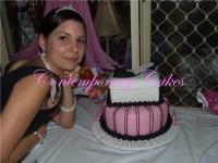 Shoe and shoe box birthday cake
