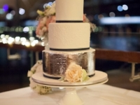 Wedding cake with silverleaf