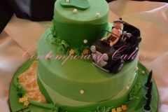 Golf themed cake with buggy cake at Contemporary Cakes and Classes Brisbane