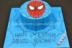 Spiderman cake  Contemporary Cakes and Classes Brisbane