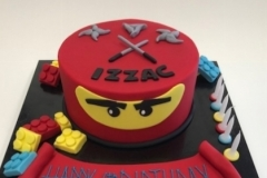 Lego ninja cake trainer shoe  birthday cake Brisbane Contemporary Cakes and Classe