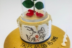 Beauty and the beast cake birthday cake Brisbane Contemporary Cakes and Classe