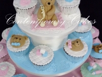 Baby shower and christening cupcakes