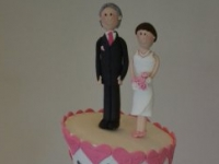 Wedding toppers personalised Brisbane Contemporary Cakes