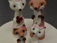Wedding toppers foxes Brisbane Contemporary Cakes