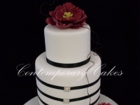 Double barrel stacked wedding cake Brisbane Contemporary Cakes