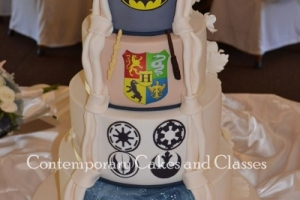 Harry Potter, Star wars, Batman and Dr Who Wedding Cake