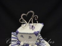 2 tier mad hatters wedding cake Contemporary Cakes Brisbane