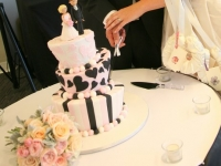 3 tier mad hatters wedding cake Brisbane Contemporary Cakes