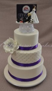 3 tier stacked wedding cake Brisbane Contemporary Cakes