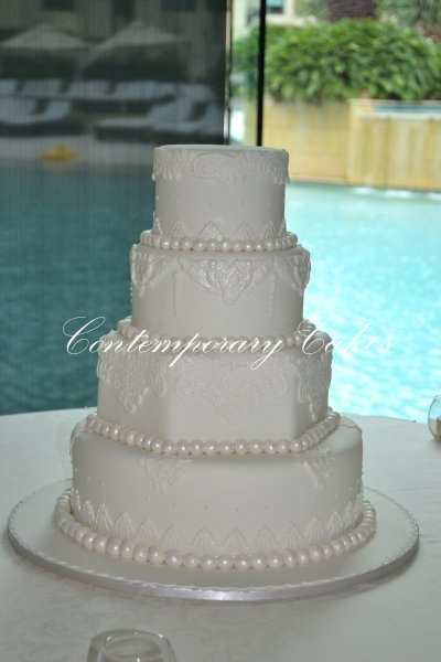 Versaces wedding cake 4 tier Brisbane Contemporary Cakes