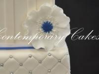 Anemone flower wedding cake