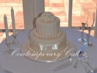 Wedding cake by Contemporary Cakes