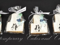 Wedding cookies silhouette