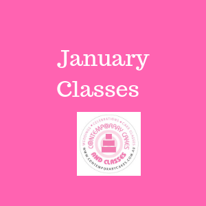 January 2020 Cake Decorating and baking classes January Contemporary Cakes and Classes