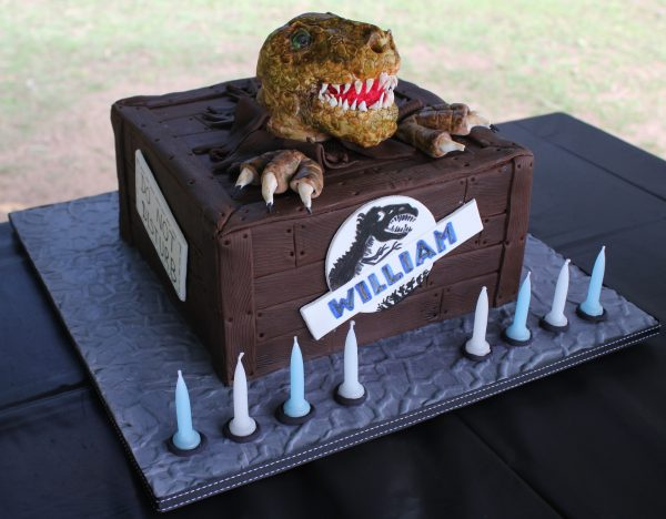 Dinosaur jurrasic cake by Contemporary Cakes and Classes
