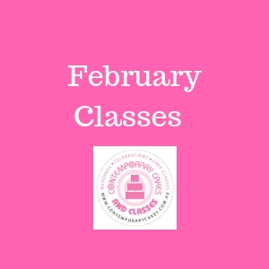 February 2020 Cake Decorating and baking classes February Contemporary Cakes and Classes